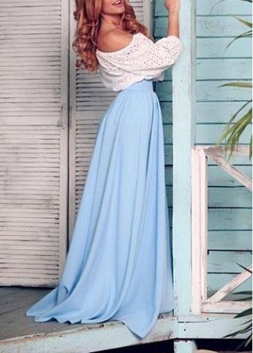 Color Block Pierced High Waist Maxi Dress