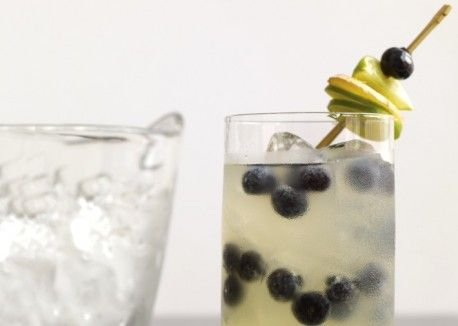 Ginger-Lime Fizz with Blueberries