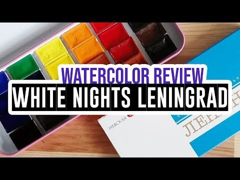 Review Demo Leningrad Watercolor Set Of 24 Colors Youtube