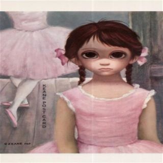 Walter Keane The Reluctant Ballerina Postcard