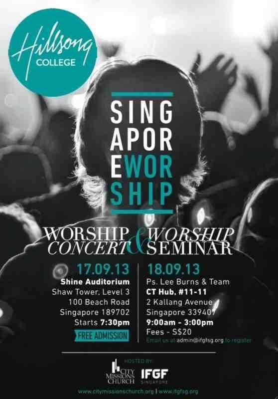 in singapore singapore worship hillsong poster poster design