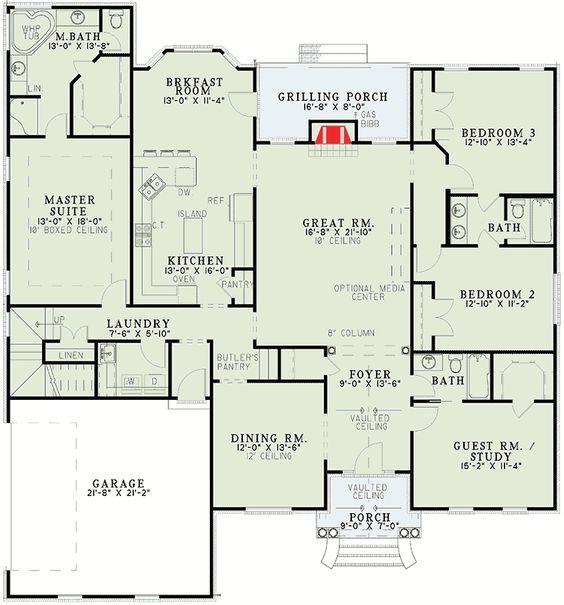 Plan 59174nd Classic Split Bedroom Design House Plans Southern House Plans Floor Plans