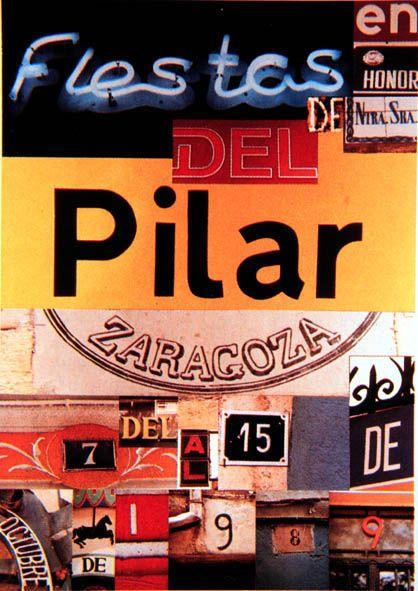 Cartel a concurso del Pilar año 1989 Titulo: En Zaragoza