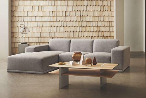 Zoe 3 Sitzer Sofa Mit Chaiselongue Links Metrica Baize Stoff Dust Green Stue Leilighet