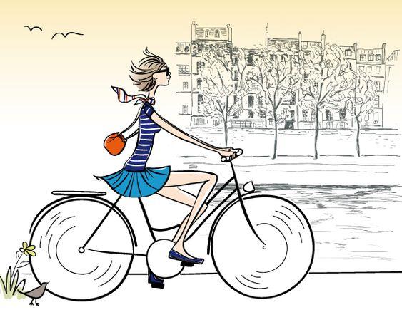 quai de Seine à vélo #paris #illustration