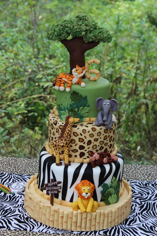 Jungle safari birthday cake | Sweet Dreams Cake App – IPhone, IPad, IPod Cake Decorating App