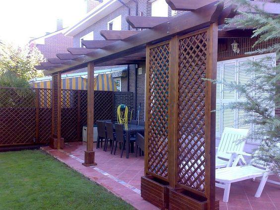 Pergolas pergojardin decoracion exterior de madera - Pergolas y porches de madera ...