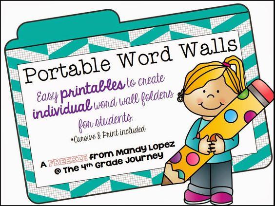 Portable Word Wall FREEBIE