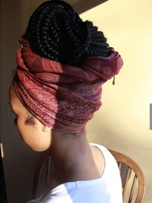 Headwear and box braids