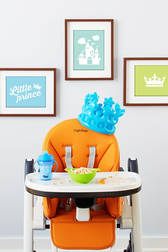 He's your perfect little prince, so celebrate in high style. Simply set the throne (aka, this awesome Peg Perego highchair) with royally cute dinnerware and add noble decor. With one royal family about to make the news, it's time for your little one to hold court.