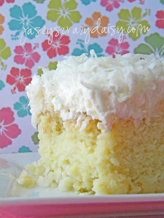 Coconut Pineapple Cake...like tres leches cake...yum!!!