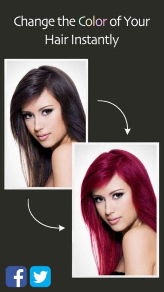 16 Iphone Apps That Will Make Women S Lives Easier Change Hair Color Different Hair Colors Change Hair