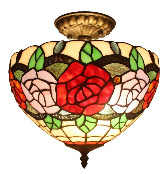 Tiffany Style Ceiling Lamp Fixture 2 Light