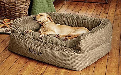 Orvis Comfortfill Couch Dog Bed Medium Dogs Up To 40 60 Lbs Brown Tweed Dog Couch Dog Couch Bed Dog Bed Large