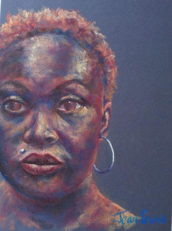 Model in pastel by Jean Lewis