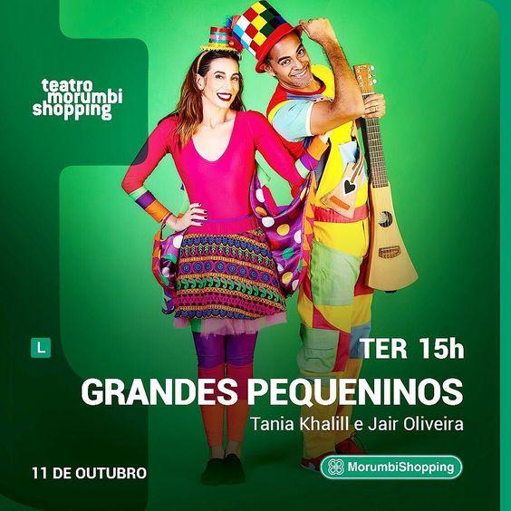 Bom dia! Vocês estão todos convidados para o show dos Grandes Pequeninos com a @taniakhalill e o @jairoliveira! É hoje às 15h no teatro shopping morumbi. Não perde essa! #DiadasCrianças #ReConecte #Lillo