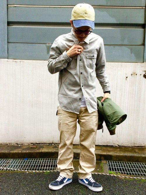 AVIREX 横浜 | MASAYAさんのシャツ/ブラウス「AVIREX avirex/ アヴィレックス/ L/S TWILL WORK SHIRT/ ツイルワークシャツ」を使ったコーディネート
