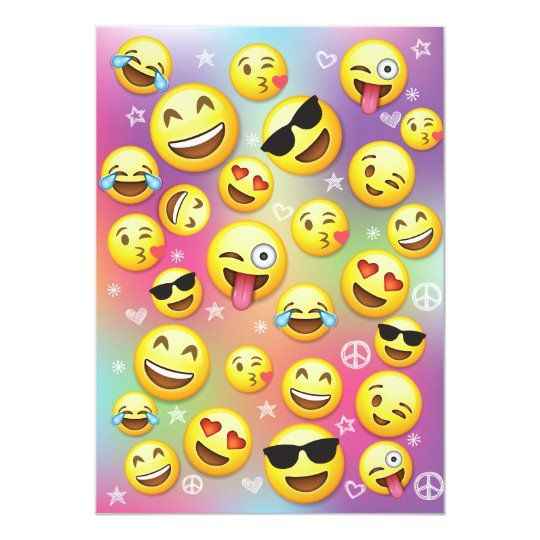30 x EMOJI ICONS EMOJIS Fun Party Edible Wafer Paper Cupcake Toppers *PRECUT*