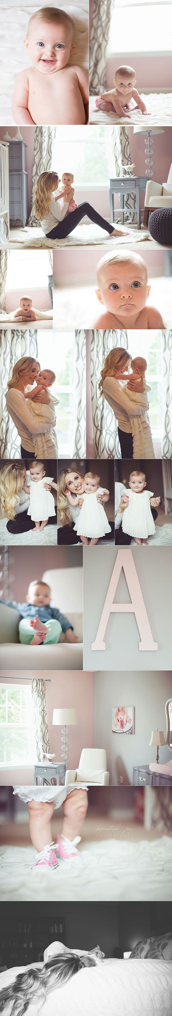 6 months   cute photography session @Kristin jones I could see this with Payton at your house