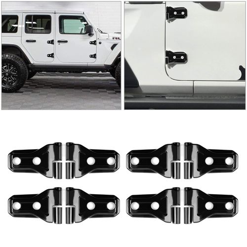 8pcs Door Hinge Trim Cover For Jeep Wrangler Jl 4 Door 2018