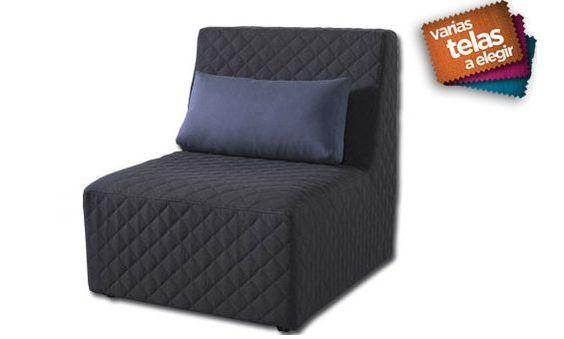 Sill n modular m dulo de 72cm tapizado en tela for Sofa modular tela