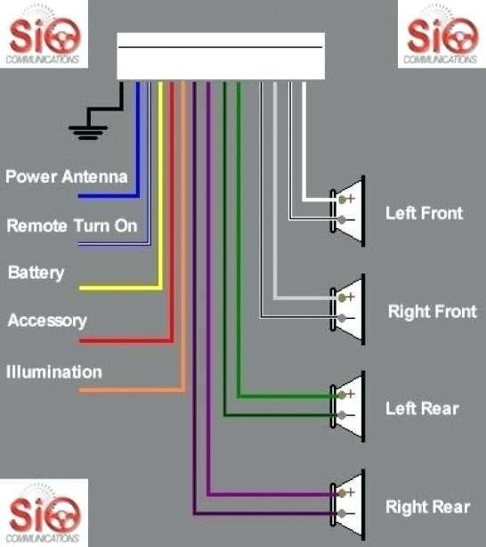 car diagram  wiringg  pioneer car stereo sony car