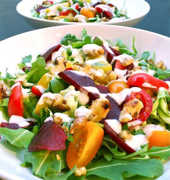 Walnut and Beet Salad with Walnut Oil Vinaigrette