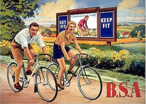 Vintage Cycle  advertising Wall art. BSA Junior  Bicycles poster