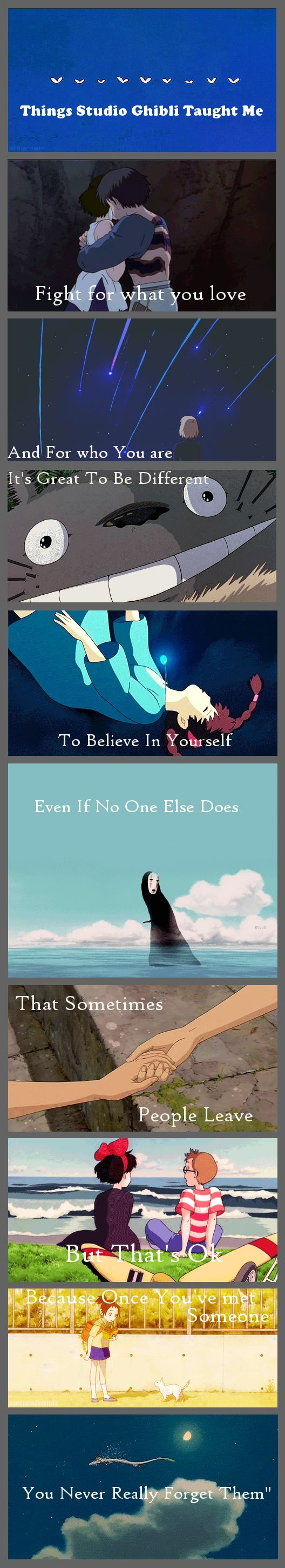 Things Studio Ghibli Taught Me [GIF set] I really needed this today.