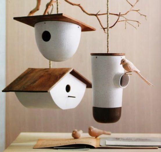 Dise os de casas y comederos para aves home design - Casas para pajaros ...