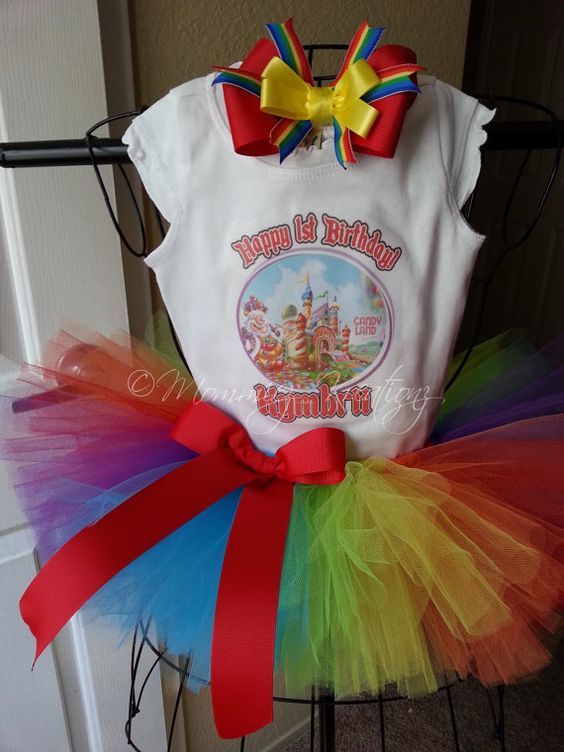 Candy Land  Tutu set first birthday by MommiezKreationz on Etsy, $43.00