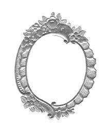 Large Silver Floral Dresden Foil Frame ~ 1