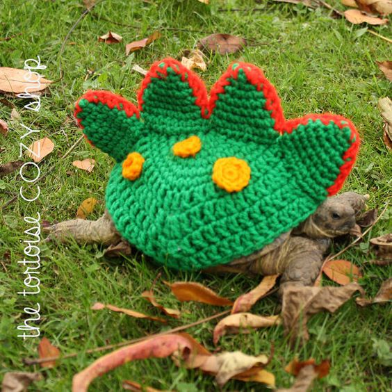 Dragon Tortoise Cozy- give vibrant color to turtles when they are out for a stroll or in the garden.