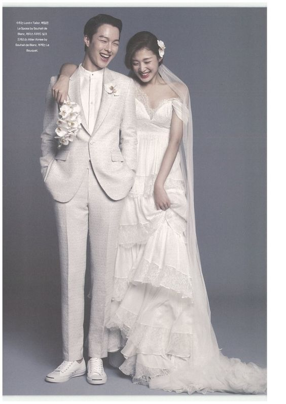 Photo by Ahn JooYoung for Elle Bride Korea March 2014, models Jang Ki Yong and Choi Ara: