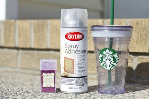 SO easy...short tutorial on how to make that cute glitter Starbucks cup I've seen floating around Pinterest...