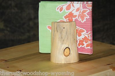 Rustic Log Napkin Holder - Cabin, Lodge, Western, Country Decor - Shipping Is $9.00 each