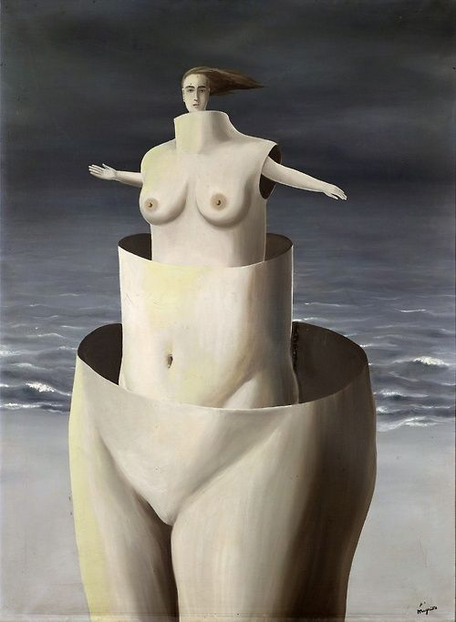 René Magritte (Belgian: 1898-1967), The importance of marvels (L'Importance des merveilles), 1927. Oil on canvas, 98 x 74 cm.: