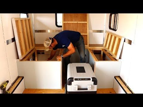 How To Build A Diy Travel Trailer Bed Cooler Cubby And Storage
