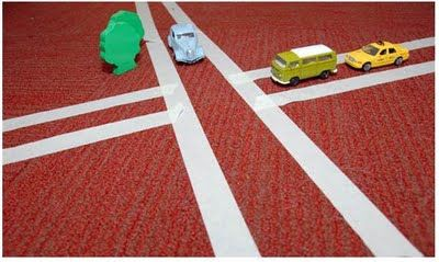 Dream Big for Toddlers: Have parent & child come in with one car. Have room taped up with roads for play time. A room of roads! Pair this activity with car/truck books - always a favorite!