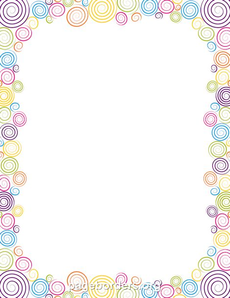 Printable spiral border Use the border in Microsoft Word or other - downloadable page borders for microsoft word