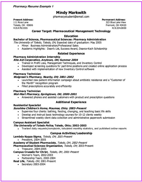 Vet Tech Resume Template - http\/\/exampleresumecvorg\/vet-tech - resume for pharmacy technician