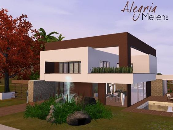 Alegria Modern House By Metens Sims 3 Downloads Cc Caboodle The Sims Pinterest Moderne
