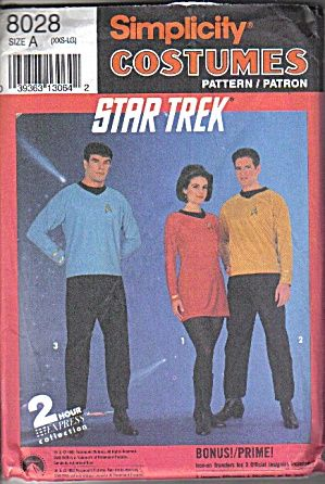 Simplicity Costume Pattern - Star Trek TOS Adult