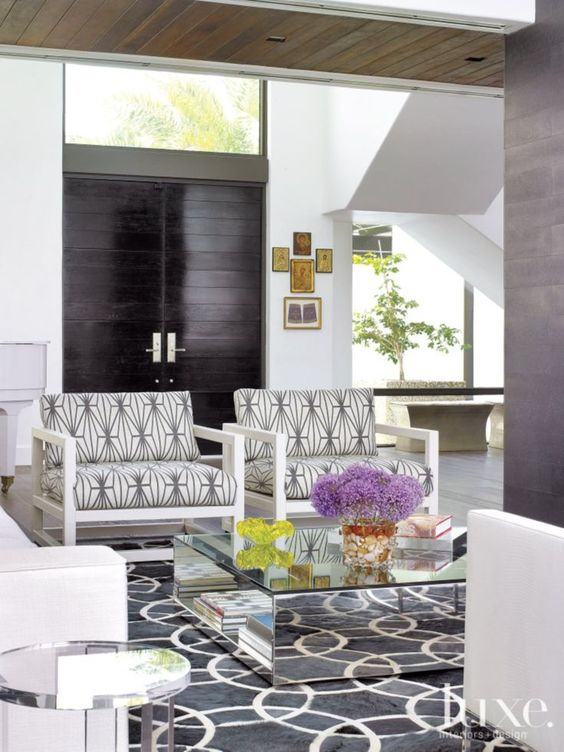 Modern White Great Room Armchairs