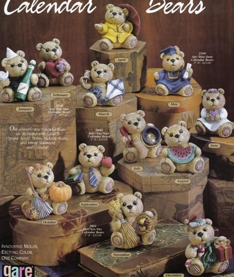 Calendar Bears 2798 Gare ***, Dolls to Make