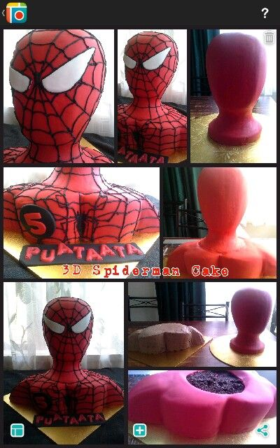 "Sweet Cheeks ""3D Spiderman"" Cake"