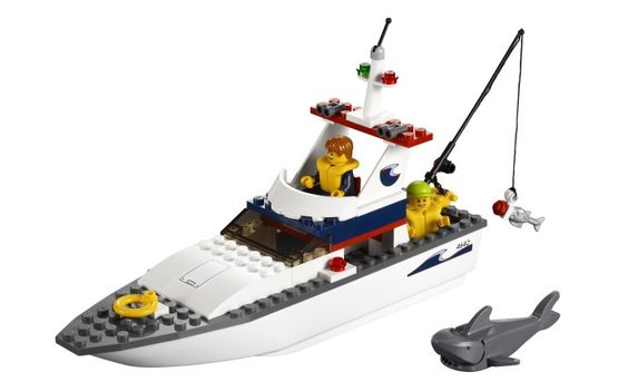 vissersboot maken van lego