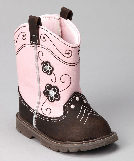Take a look at this Natural Steps Pink & Brown Bonnie Boot on zulily today!
