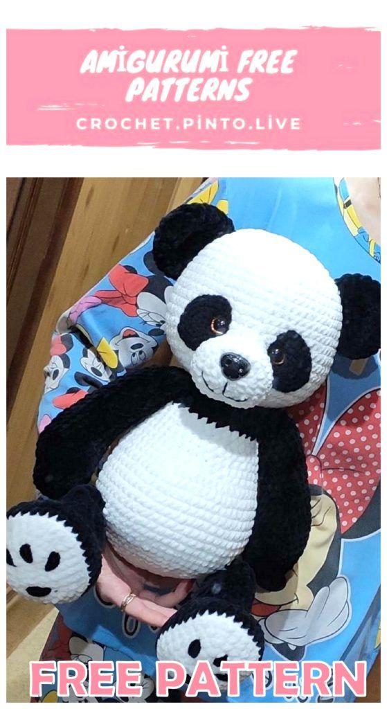 Amigurumi panda bear pattern // Kristi Tullus (spire.ee) | Crochet ... | 1024x559