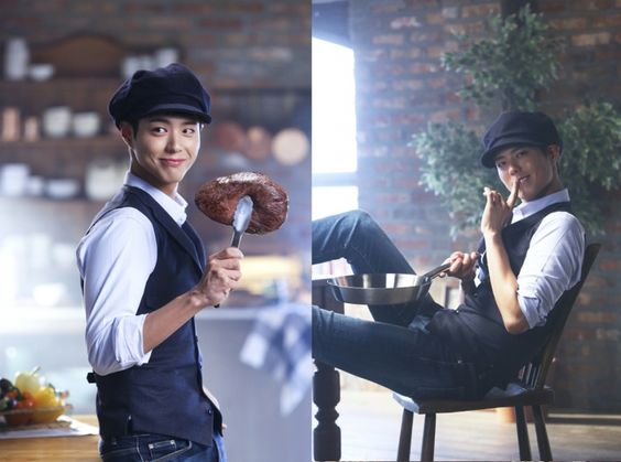 """""""park bogum for dominos ✧ new autumn products thank you, topstarnews."""""""